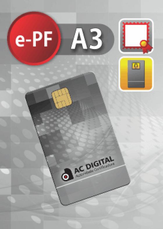 e-PF A3 cartao