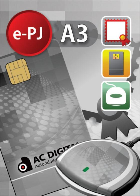 e-PJ A3 em cartao e leitora para ME/EPP/MEI