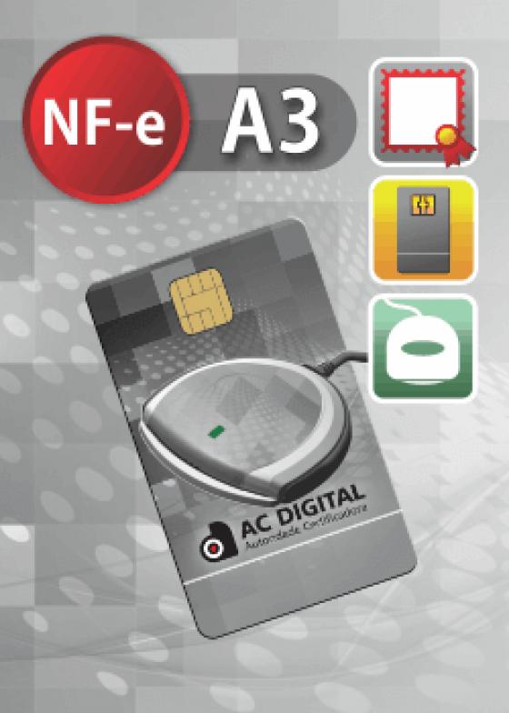 NF-e A3 em cartão e leitora